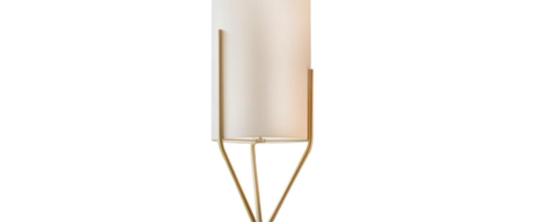 Lampadaire arborescence s blanc et laiton o33cm h150cm cvl normal
