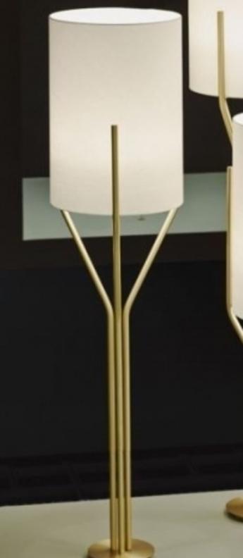 Lampadaire arborescence xs blanc et laiton o33cm h125cm cvl normal