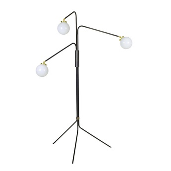 Lampadaire array opal opalin laiton o72 5cm h154cm cto lighting normal
