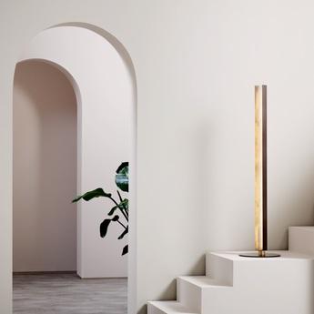 Lampadaire artes bronze led 2700k o30cm h122cm cto lighting normal