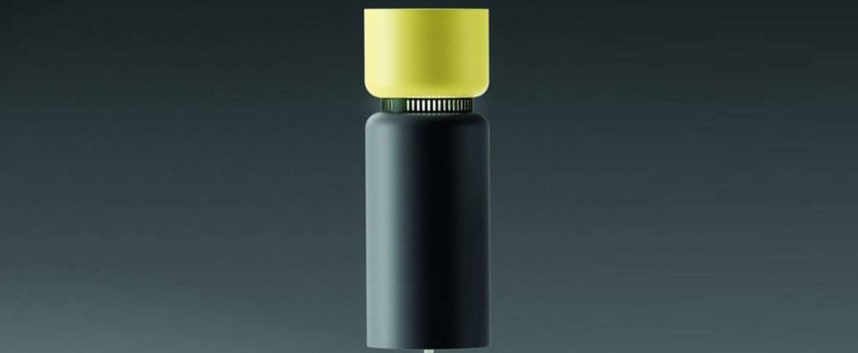 Lampadaire aspen f17 citron gris h170cm b lux normal
