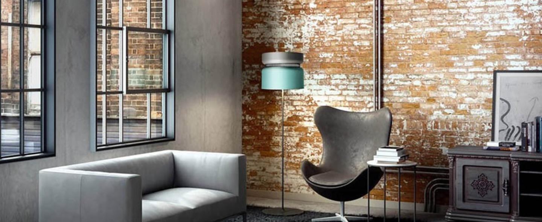 Lampadaire aspen f40 gris turquoise h150cm b lux normal