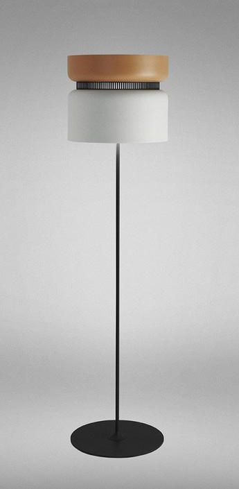 Lampadaire aspen f40 mangue neige h150cm b lux normal