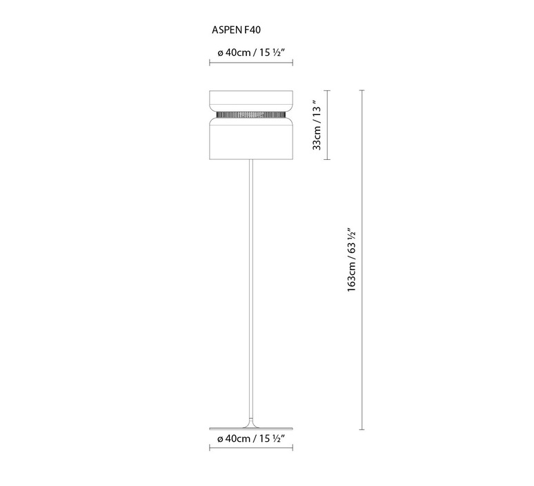 Aspen f40 werner aisslinger b lux aspen f40 mango snow luminaire lighting design signed 18121 product