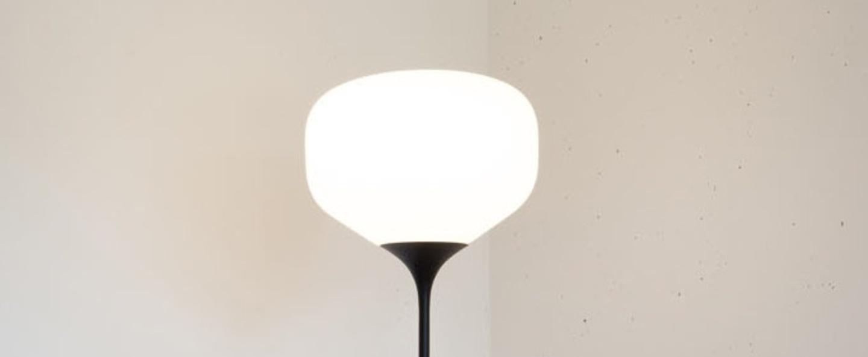Lampadaire awa blanc mat noir h145cm o26cm teo normal