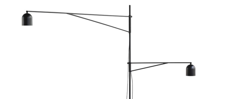 Lampadaire awkward light noir l155cm h191cm karakter normal