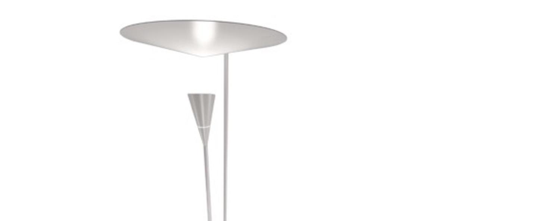 Lampadaire b211 blanc h170cm lignes de demarcation normal