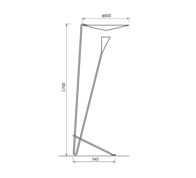 B211 michel buffet lignes de demarcation b211 blanc luminaire lighting design signed 23535 product