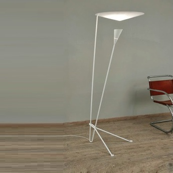 Lampadaire b211 blanc h170cm lignes de demarcation normal