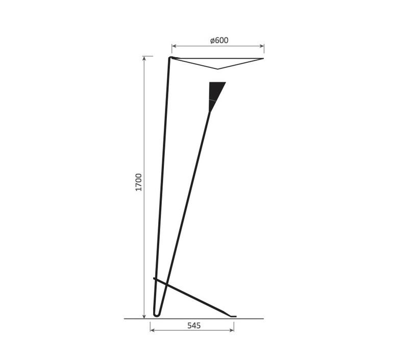 B211 michel buffet lignes de demarcation b211 noir luminaire lighting design signed 23544 product