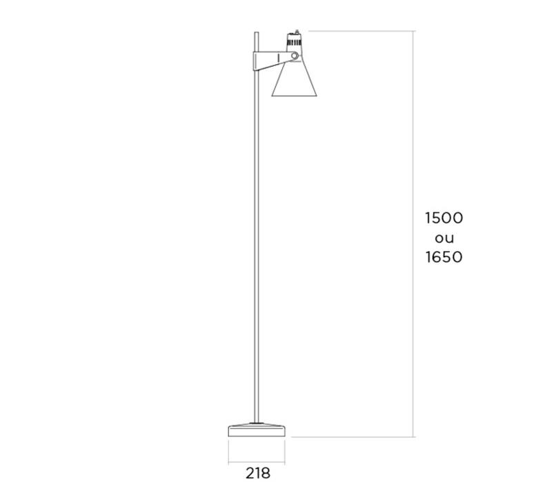 B4 rene jean caillette lampadaire floor light  disderot b4 n   design signed nedgis 83123 product