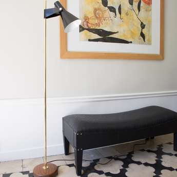 Lampadaire b4 noir laiton o22cm h150cm disderot normal