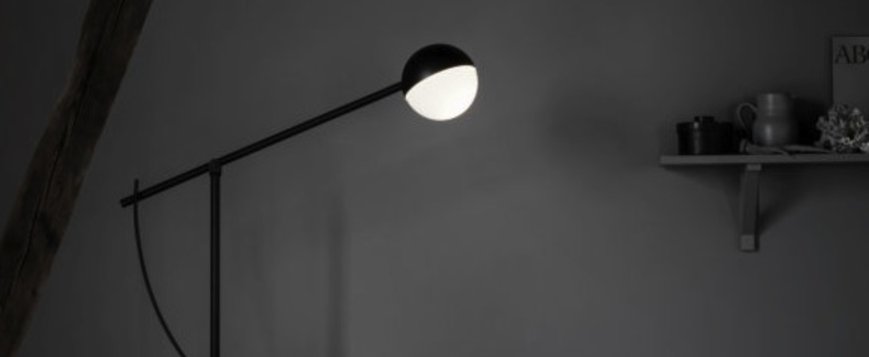Lampadaire balancer noir mat h170cm l81cm northern lighting normal