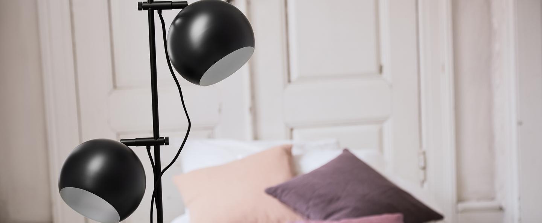 Lampadaire ball double noir mat l24cm h149cm frandsen normal