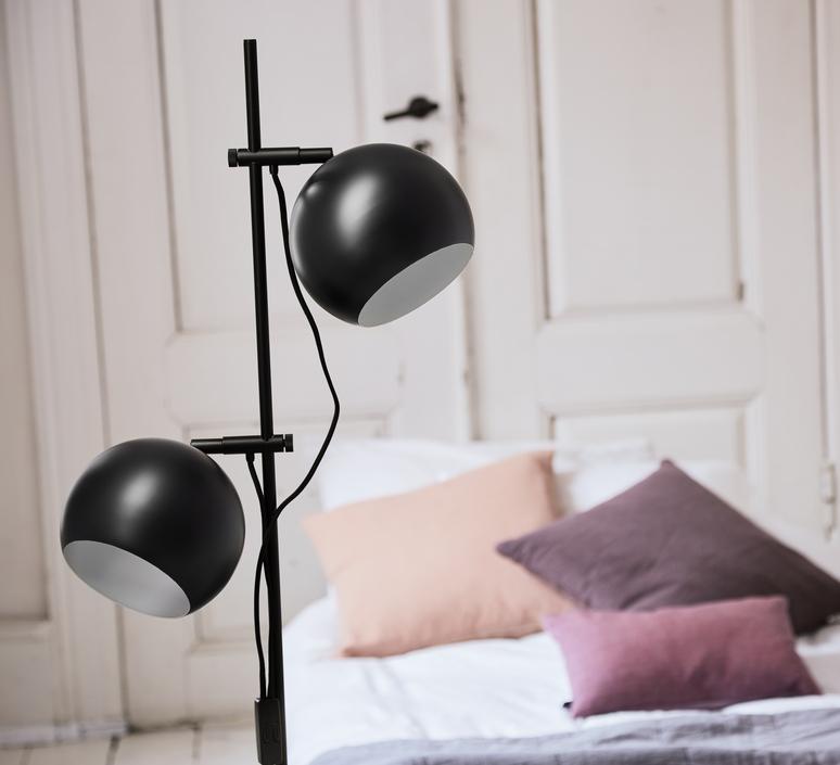 Ball double benny frandsen lampadaire floor light  frandsen floor lamp ball double black  design signed nedgis 91781 product