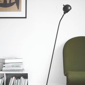 Lampadaire ball noir mat l24cm h130cm frandsen normal