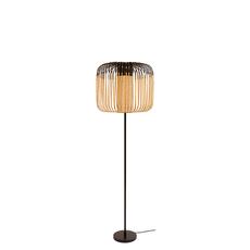 Lampadaire bamboo light noir et bambou h150cm forestier 26746 thumb