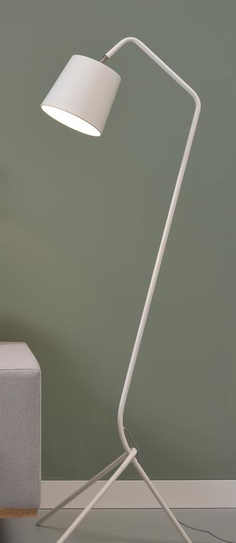 Lampadaire barcelona blanc h151cm it s about romi normal