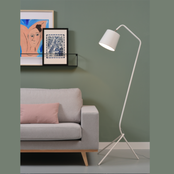 Lampadaire barcelona blanc h151cm it s about romi normal