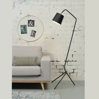 Lampadaire barcelona noir h151cm it s about romi normal