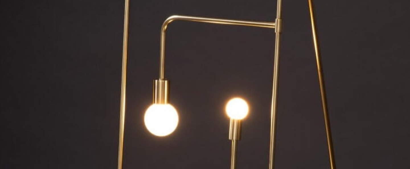 Lampadaire beaubien 01 laiton l43cm h152cm lambert fils normal