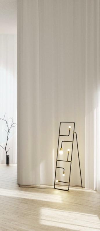 Lampadaire beaubien 01 noir et laiton l43cm h152cm lambert fils normal