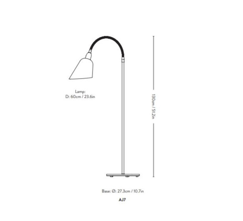 Bellevue arne jacobsen lampadaire floor light  andtradition 20811189  design signed nedgis 75876 product