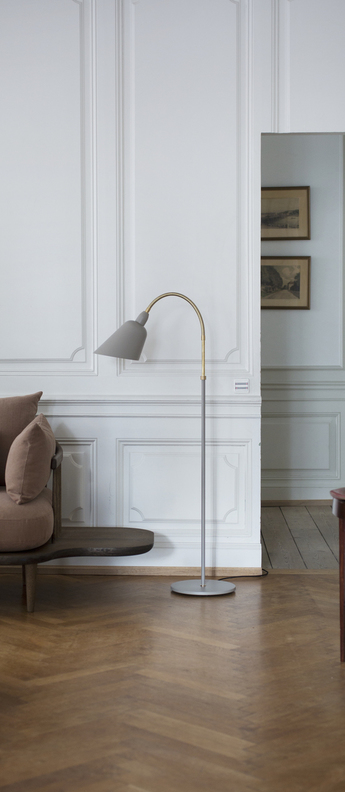 Lampadaire bellevue gris laiton h130cm andtradition normal
