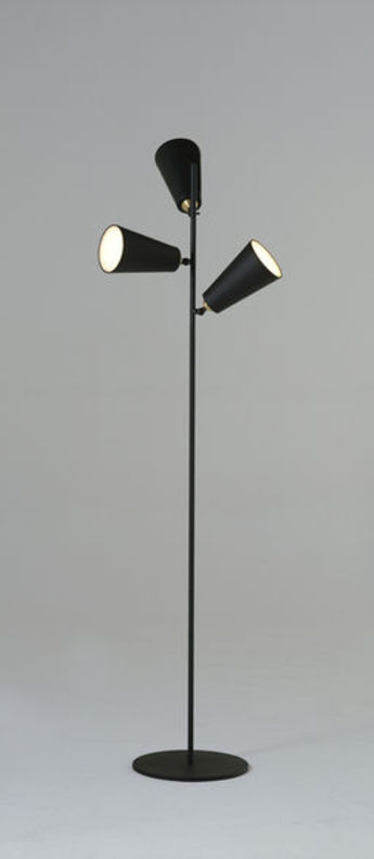 Lampadaire bells floor lamp noir led o30cm h150cm nir meiri normal