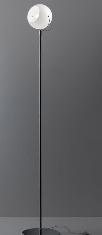 Lampadaire beluga d57 blanc l24 4cm h186cm fabbian normal