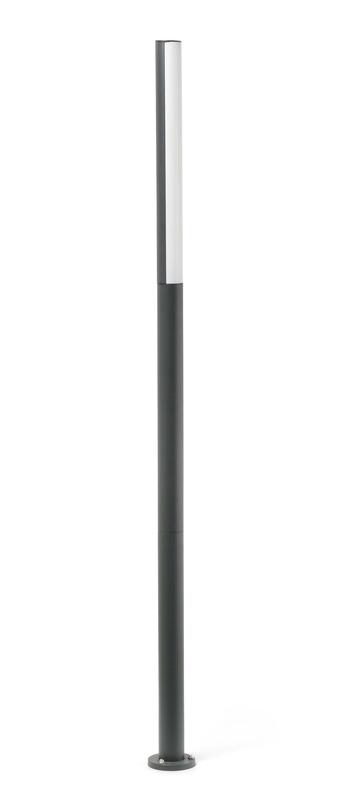 Lampadaire beret 3 noir 0led 4000k 625lml6 5cm h180cm faro normal
