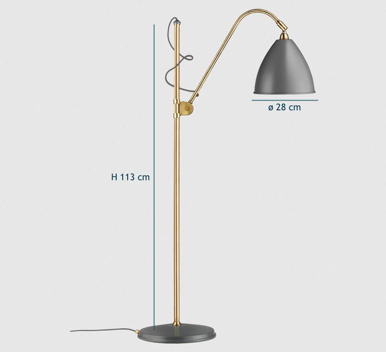 Best lite bl3 medium  lampadaire floor light  gubi 001 03136   design signed 39912 product
