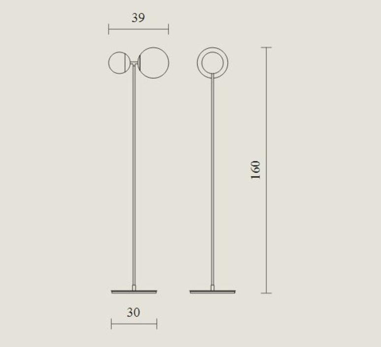 Biba lorenza bozzoli lampadaire floor light  tato italia tbi400 1340  design signed nedgis 62949 product