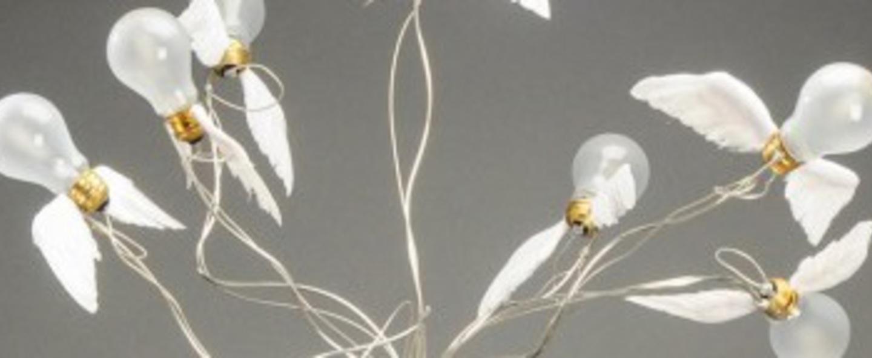 Lampadaire birdie s busch blanc transparent o50cm h95cm ingo maurer normal