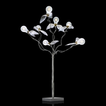 Lampadaire birdie s busch led blanc transparent o50cm h95cm ingo maurer normal