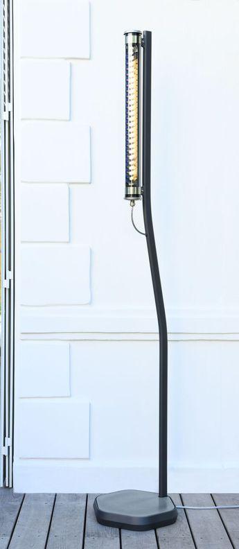 Lampadaire bodom charbon petrole led l38cm h205cm sammode normal