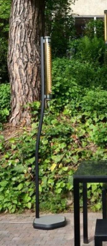 Lampadaire bodom noir cuivre led l38cm h205cm sammode normal