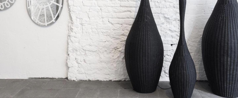 Lampadaire bolla m noir 0o40cm h155cm gervasoni normal