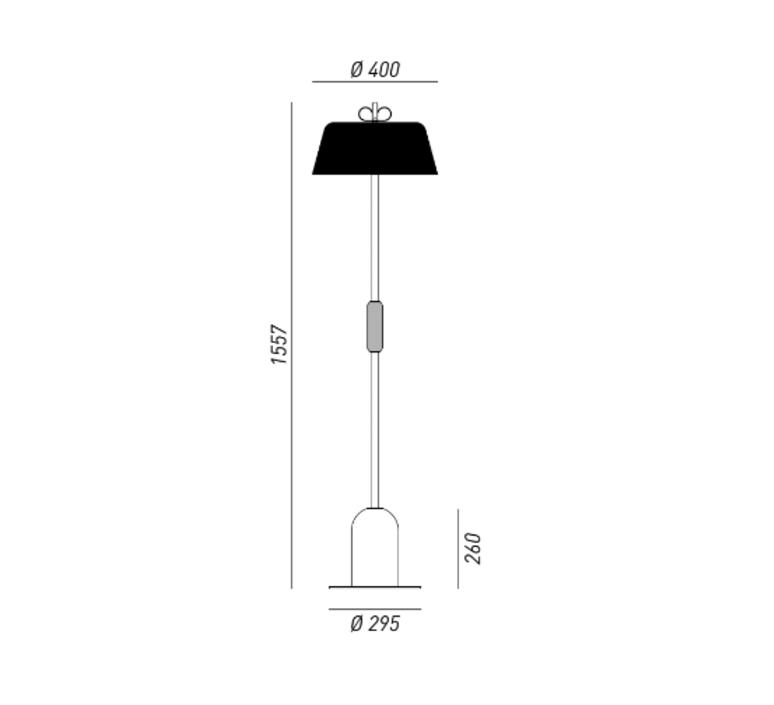 Bon ton cristina celestino lampadaire floor light  torremato n9d3fo  design signed 52370 product