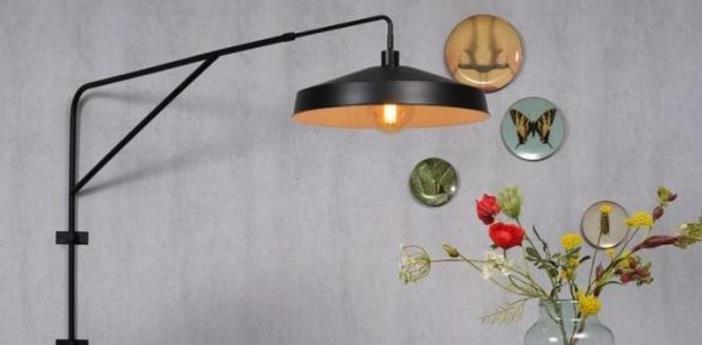 Lampadaire brighton noir o51cm h119cm it s about romi normal