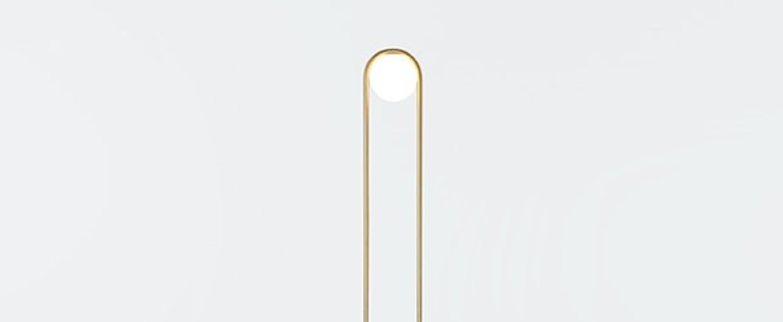 Lampadaire c ball f laiton o23cm h174cm b lux normal