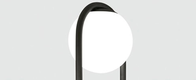 Lampadaire c ball f noir o18 5cm h174cm blux normal