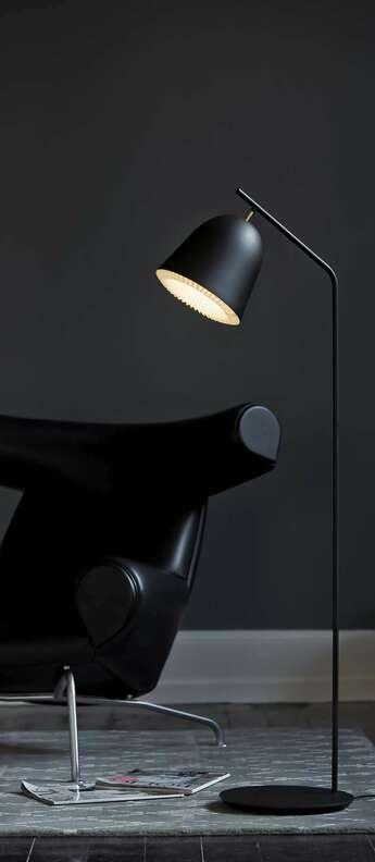 Lampadaire cache noir led o30cm h130cm le klint normal