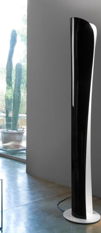 Lampadaire cadmo halo noir h174cm artemide normal