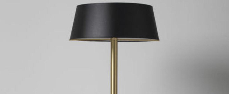 Lampadaire calee xs noir et laiton o50cm h140cm cvl normal