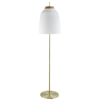 Lampadaire campa blanc laiton antique o35cm h145 5cm bolia normal