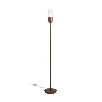 Lampadaire capsule corten o20cm h130cm alma light normal