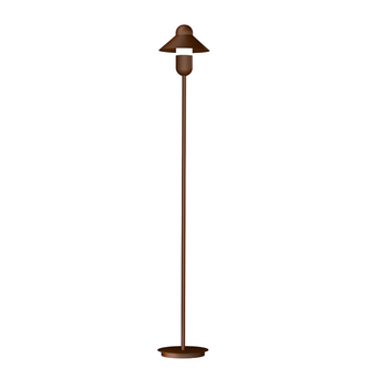 Lampadaire capsulehat corten o20cm h130cm alma light normal