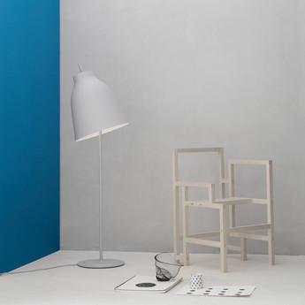 Lampadaire caravaggio floor matt gris o40cm h151 5cm lightyears normal