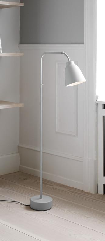 Lampadaire caravaggio read blanc o36 2cm h110cm lightyears normal